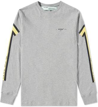 Off-White Off White Long Sleeve Arrows Tee