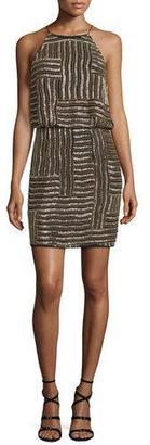 Diane von Furstenberg Samala Silk Embroidered Blouson Dress, Black/Gold $798 thestylecure.com