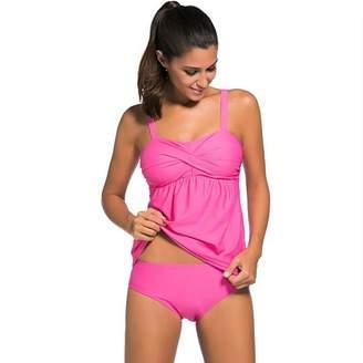 Newbestyle Women Swimwear Two Pieces Tankini Set Bikini Suits