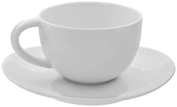 10 Strawberry Street Royal Oval White Cups and Saucers