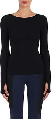 Live The Process Women's Ottoman-Knit Seamless Top - Black