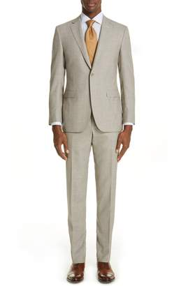 Canali Milano Trim Fit Solid Wool Blend Suit