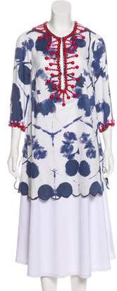 Easton Pearson Embellished Scoop Neck Tunic