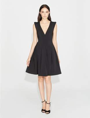 Halston Stretch Faille Dress with Seams