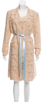 Oscar de la Renta Lace Two-Piece Dress Set