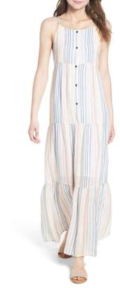 Splendid Multistripe Linen Maxi Dress