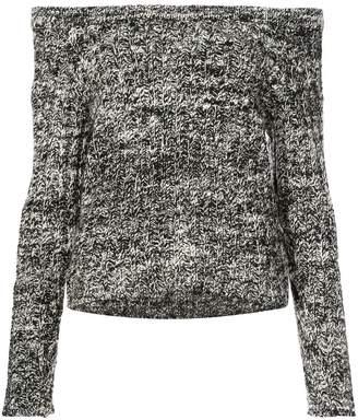 The Elder Statesman cashmere off shoulder sweater