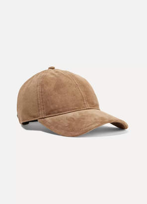 e807132d41b Rag   Bone Marilyn Leather-trimmed Suede Baseball Cap - Tan