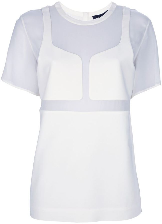 Alexander Wang panelled t-shirt