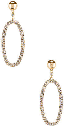 Ettika Rhinestone Oval Dangling Earring