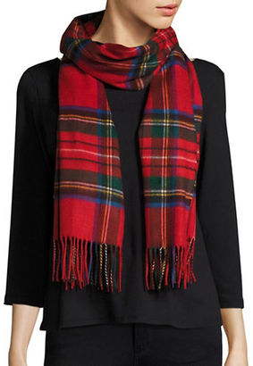 Lord & Taylor Fringed Tartan Plaid Scarf or Wrap $48 thestylecure.com