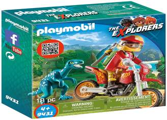 Next Boys Playmobil Motorcross With Raptor