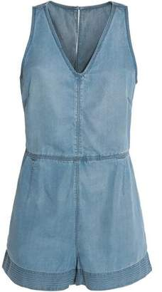 Rag & Bone Mojave Tie-Back Tencel-Chambray Playsuit