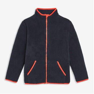 Joe Fresh Kid Boys' Faux Fur Fleece Active Jacket, Dark Blue (Size M)