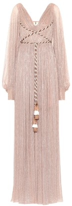 Peter Pilotto Pleated metallic gown