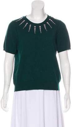 Marc Jacobs Embellished Short Sleeve Sweater