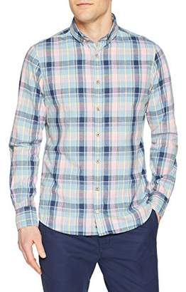 Colours&Sons Men's Linen-Looking-Story Casual Shirt