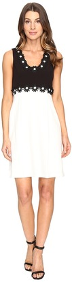 Christin Michaels - Aviana Sleeveless Dress with Flower Detail Women's Dress $139 thestylecure.com