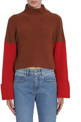 MSGM Cropped Turtle Neck Sweater