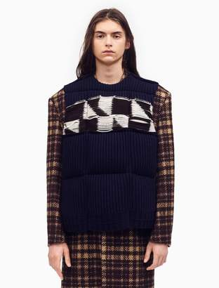 Calvin Klein quilted jacquard knit down padded vest