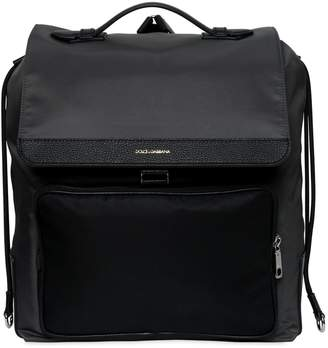 Dolce & Gabbana Nylon Backpack W/ Leather Pocket