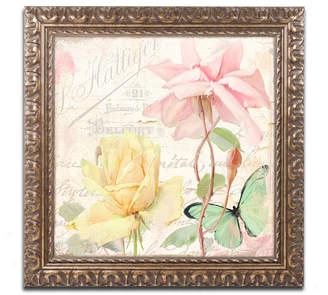 Flora Bella Trademark Global Color Bakery 'Florabella Iv' Ornate Framed Art