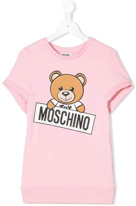 Moschino Kids teddy bear print dress
