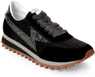 Marc Jacobs Black Lightning Bolt Casual Sneakers