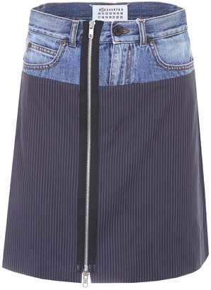 Maison Margiela Striped Mini Skirt