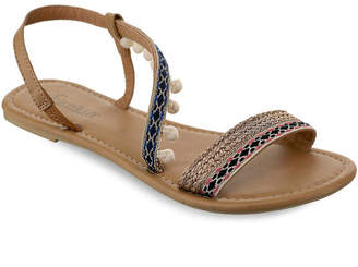 OLIVIA MILLER Neptune Mini Pom Pom Sandals Women Shoes
