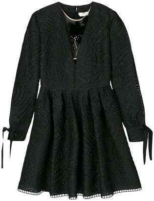 Short cloqué dress