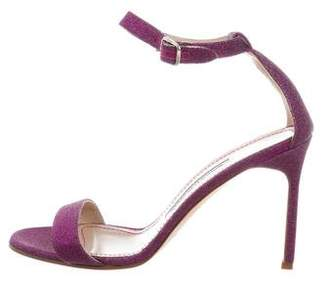 Manolo Blahnik Chaos Glitter Sandals