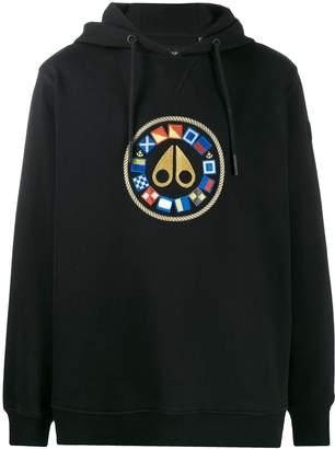 Moose Knuckles Lake Winnipeg embroidered hoodie