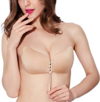 b8c91faa3483a Oulinect Self Adhesive Bra Silicone Strapless Invisible Backless Push Up Bra (A-DDD)