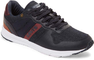 Levi's Navy & Burgundy Baylor Denim Low-Top Sneakers