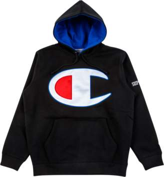 Supreme Champion Satin Logo Hooded Swe - Black