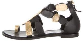 Pierre Hardy Leather Flat Sandals