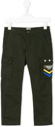 Emporio Armani Kids cargo trousers