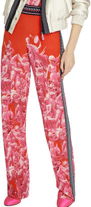 Schiaparelli Pink Victory Print Trousers