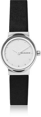 Skagen Freja Black Leather Women's Watch