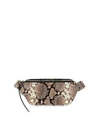 Rebecca Minkoff Bree Snake-Print Denim Belt Bag