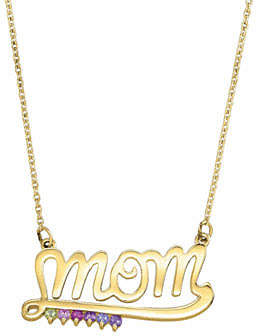 FINE JEWELRY Personalized Simulated Birthstone Mom Necklace