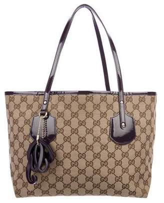 463a57d13af Pre-Owned at TheRealReal · Gucci Medium GG Canvas Jolie Tote