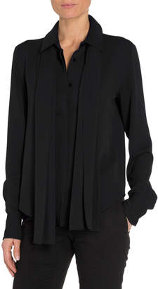 Tom Ford Scarf-Neck Boyfriend Shirt
