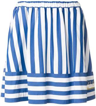 Love Moschino striped mini skirt