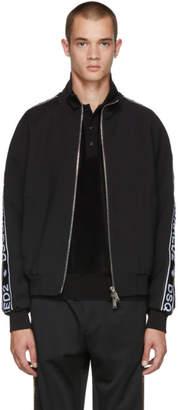 DSQUARED2 Black Cady Zip-Up Jacket