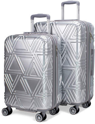 Badgley Mischka Contour 2 Piece Expandable Hard Spinner Luggage Set
