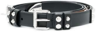 Prada multi stud leather belt