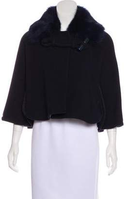 Chloé Shearling-Trimmed Wool Jacket