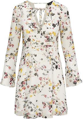 Sam Edelman Front Tie Bell Sleeve Dress